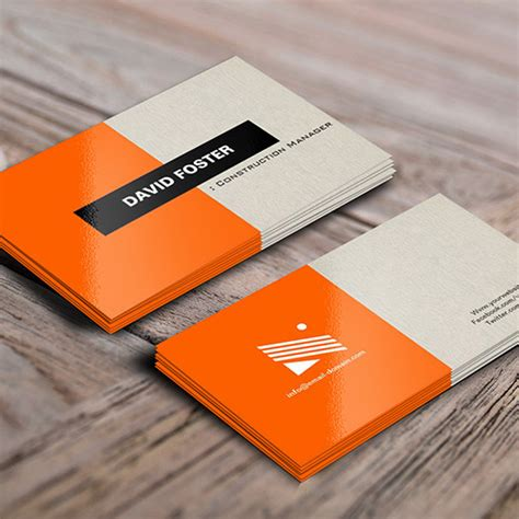 director business cards template honorio alvarez construction manager simple