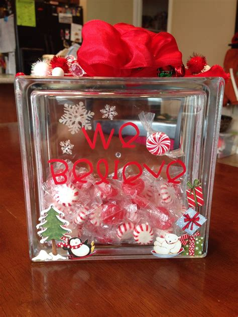 christmas glass block decor elegant christmas pinterest