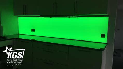 glasplatte beleuchten led k 252 chenr 252 ckwand