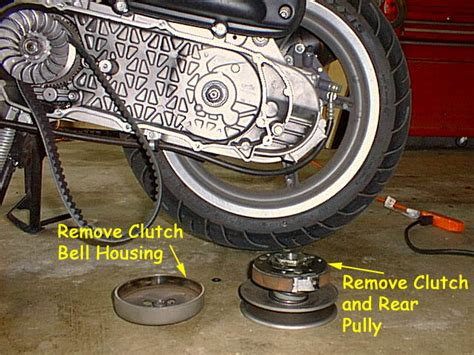 Pully Assy Cover Kc Mio 1 installing new rear end gears step by step w pics and performance results