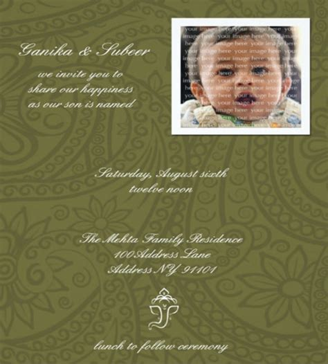 Baby Naming Card Template by 35 Naming Ceremony Invitations Psd Ai Free Premium
