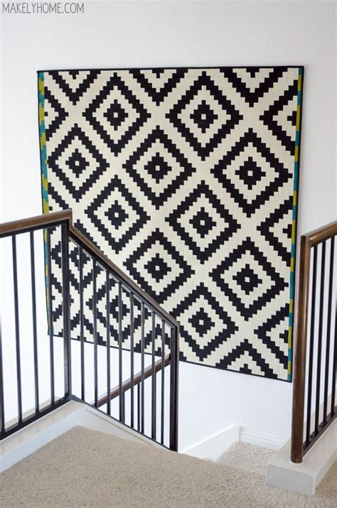 hang rug on wall decorating large walls large scale wall ideas