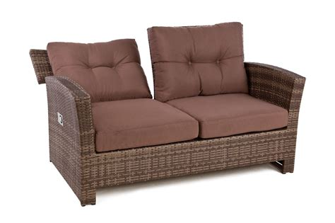 Reclining Sofa Chair Outside Edge Garden Furniture Rattan 4 Seater Sofa Set For Outdoor With Reclining Lounge