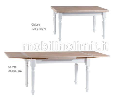 tavolo 80 x 120 allungabile tavolo allungabile 120x80 shabby chic