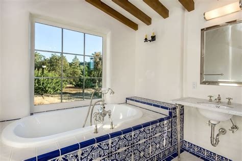 spanish tile bathroom ideas mexican tile bathroom mediterranean with marble counter