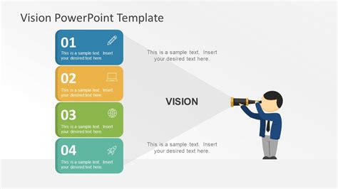vision statement template free flat vision statement powerpoint graphics slidemodel