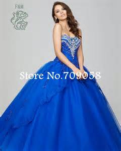 2015 latest royal blue ball gown tulle quinceanera dresses