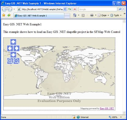 Easy Gis Net Developer Resources Loading An Easy Gis Net Project In A Web Page Gis Project Template