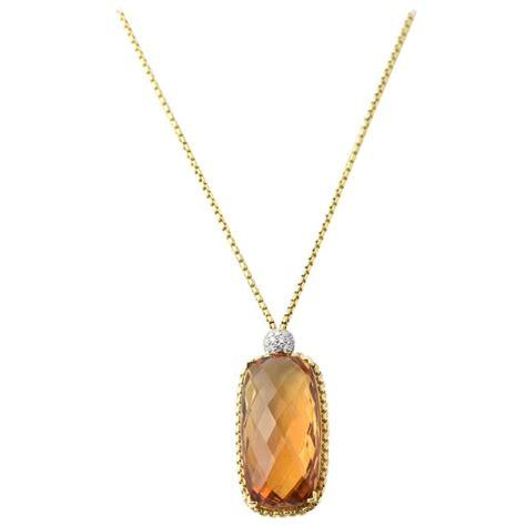 david yurman citrine pendant gold necklace for