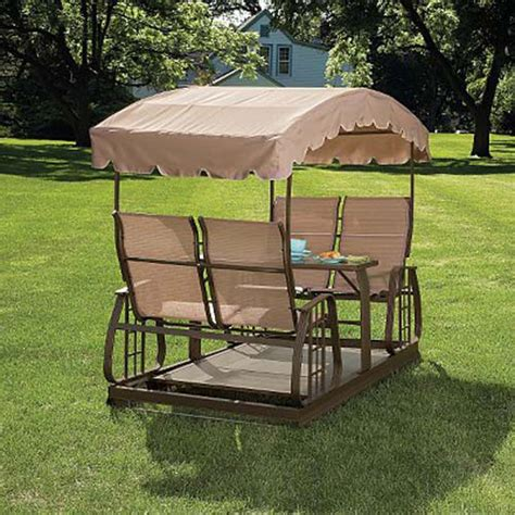 glider swing canopy replacement sears garden oasis four person glider swing replacement