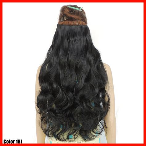 24in hair 24 inch clip in extensions synthetic extensiones de pelo