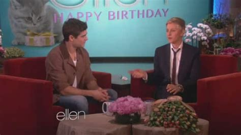 justin bieber ellen degeneres face swap zac efron serenades ellen degeneres for her birthday the