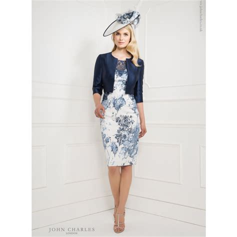 john charles printed lace top dress with matching cropped