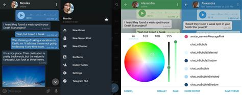 themes in the telegram telegram adds support for themes in latest update
