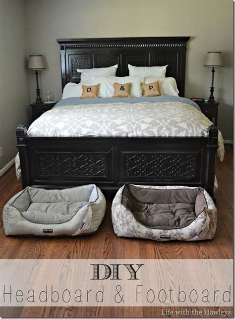 Diy Footboard diy headboard footboard crafty