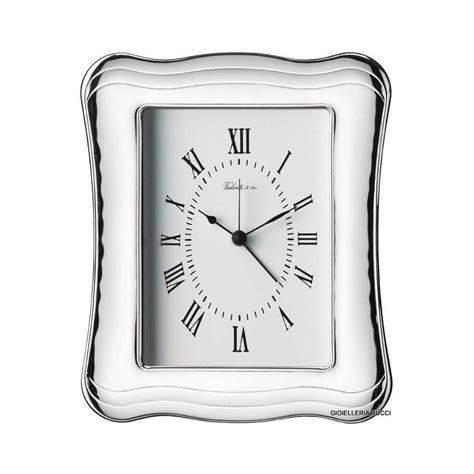 orologio sveglia da tavolo orologio sveglia da tavolo in argento vl12511 3orl