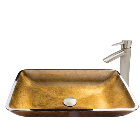rectangular clear glass vessel sinks vigo rectangular copper glass vessel and shadow