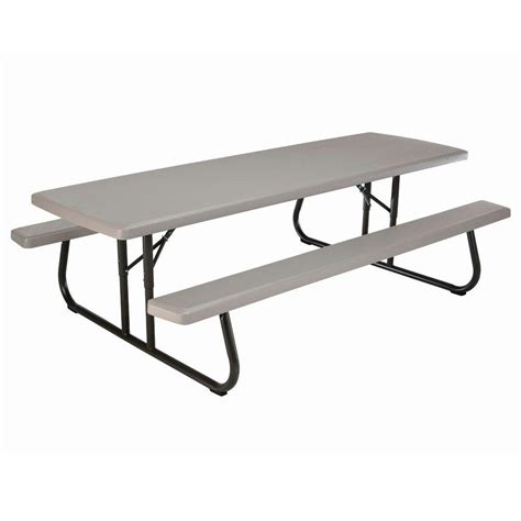 lifetime tables home depot lifetime 57 in x 96 in commercial grade picnic table