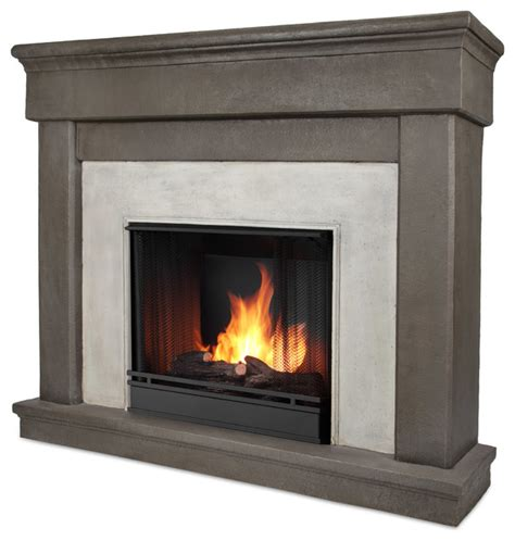 cascade dune gel fuel firebox and mantel