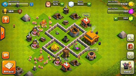 layout for town hall 3 clash of clans best town hall 3 defense base design