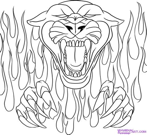 coloring pages of hearts with flames drawing flames coloring pages panthers school