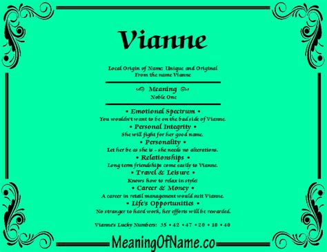 vianne meaning of name