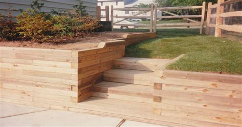 Using Landscape Timbers For Retaining Wall Timber Retaining Wall Design Stunning Decoration Retaining