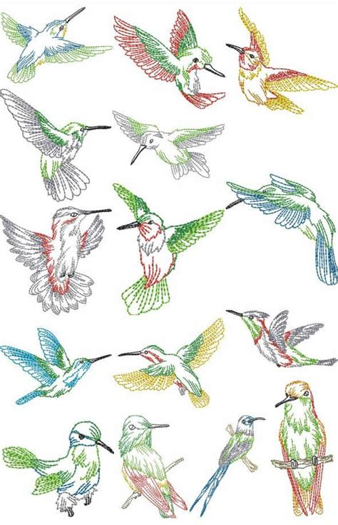 Free Handmade Embroidery Designs - hummingbird embroidery patterns free humming bird