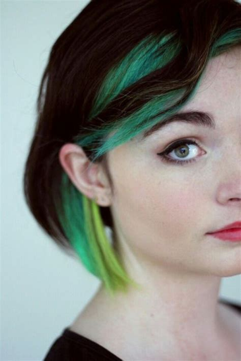 streaked hair color pictures 25 unique green hair streaks ideas on pinterest teal