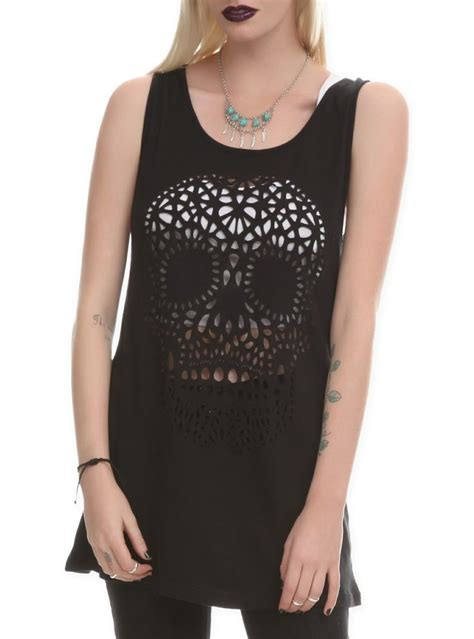 Hafa Top By N D Fashion skull tastic pin of the day topic clothes and closets