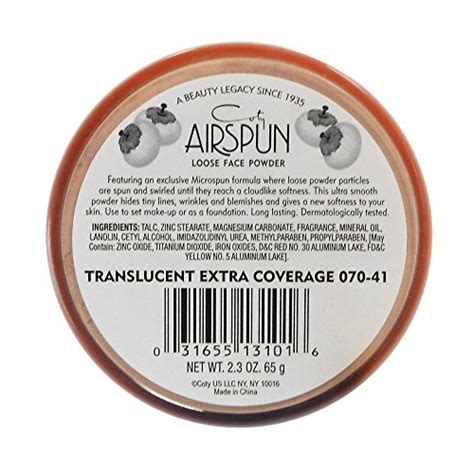 Coty Airspun Transcluent coty airspun powder translucent 2 3 ounce buy hub