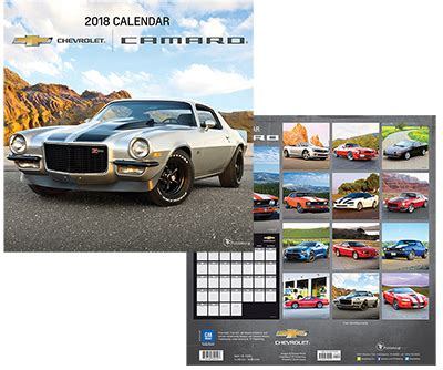 2018 camaro wall calendar chevymall