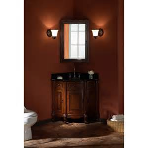bathroom corner medicine cabinet xylem manor corner single bathroom vanity with optional