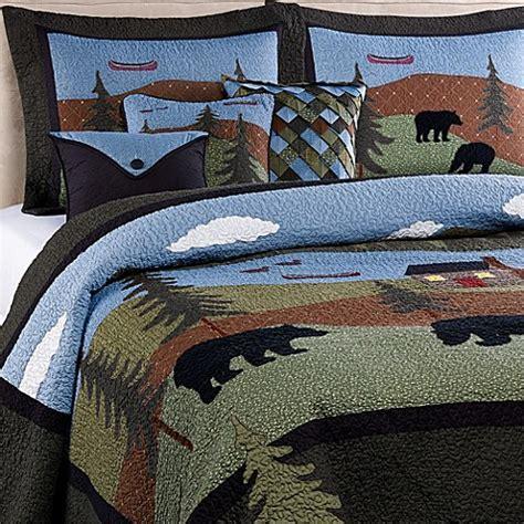 donna sharp bedding donna sharp bear lake quilt www bedbathandbeyond ca