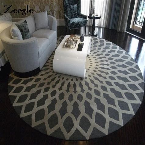 ordinary Big Rugs For Living Room #4: Zeegle-Nordic-Gray-Series-Round-Carpets-For-Living-Room-Computer-Chair-Area-Rug-Children-Play-Floor.jpg