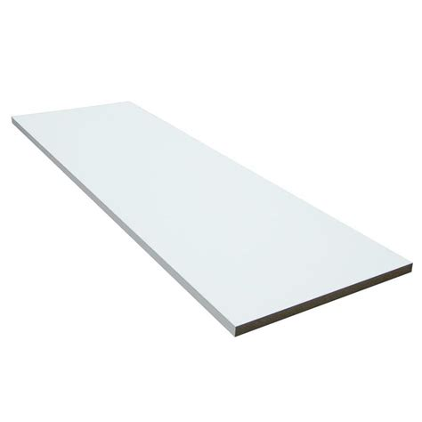lowes shelving boards shop funder 48 in x 16 in white shelf board at lowes
