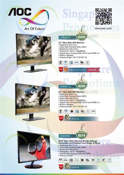 Aoc Calendar Aoc Monitors Offers Price List 8 31 Aug 2014