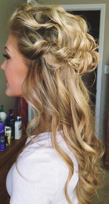 homecoming hairstyles all down 26 stunning half up half down hairstyles prom prom