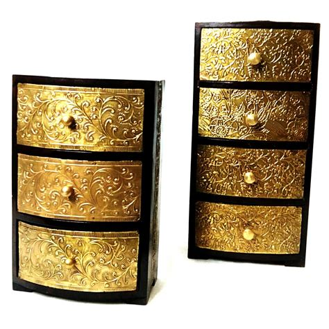 Embossed Chest Of Drawers by Vintage Embossed Brass Chest Of Drawers Antikcart