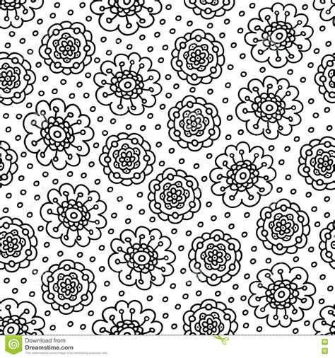 flower background coloring page coloring page flower pattern seamless hand drawn