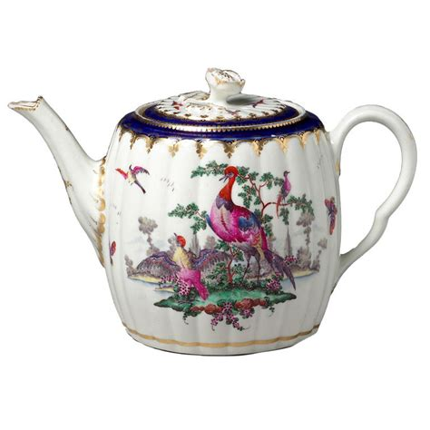 paisley curtain teapots