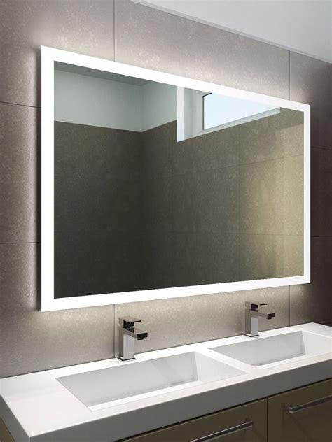 audio halo wide led bathroom mirror