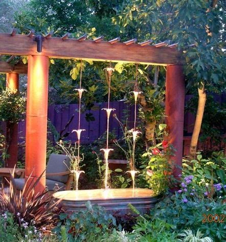 easy backyard water features rain chain waterfall this might just be the water feature