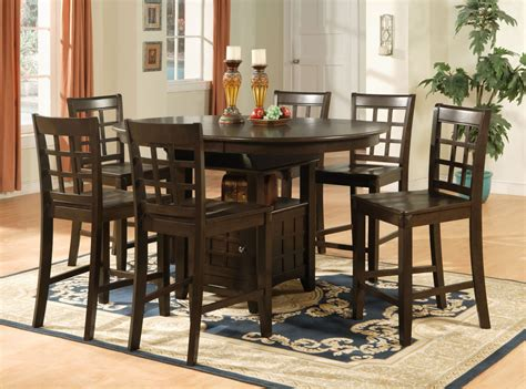 Dining Table Stools Set by Oval Counter Height Dining Set 7pc Table 6 Bar Stools Ebay