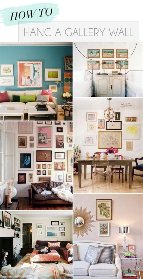 gallery wall how to how to hang a gallery wall theglitterguide com