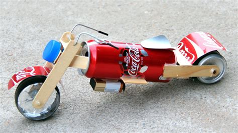 How To Make A Bike Out Of Paper - how to make a motorcycle amazing coca cola