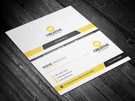 visiting card template photoshop sided business card template photoshop images