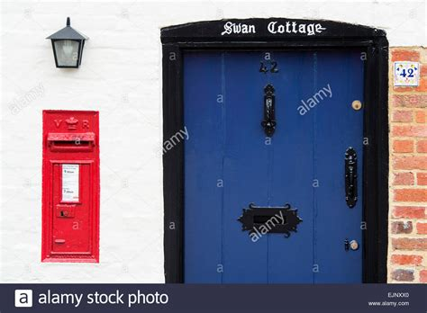 Post Box For Front Door Blue Cottage Front Door And Post Box Uk Stock Photo Royalty Free Image 80387384 Alamy