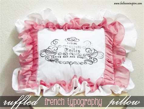 typography tutorial pinterest french typography ruffled pillow tutorial