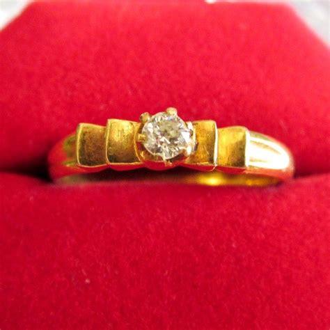 Satu Set Perhiasan Kecubung cib43 cincin berlian mata satu